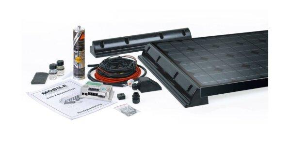 Verschiedene Solarpanels für die...