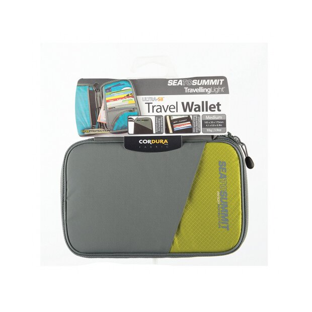 Travel Wallet RFID Medium Lime