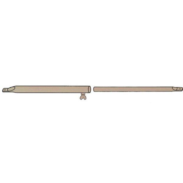 Spann- und Firststab Stahl 22mm 110-200 cm